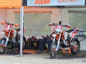 KTM team tent