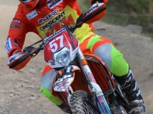 Enduro off road motorcycle Rider
