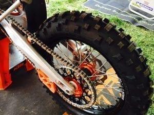 Enduro rear tyre