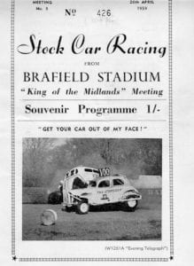 Stock car racing programme 1950s