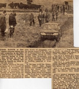 Production car race 1960s press release