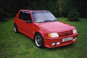 1980 Red Peugeot 205